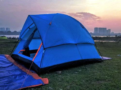 lều xếp cắm trại di động